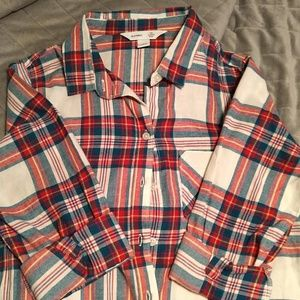 Nwot flannel button up shirt